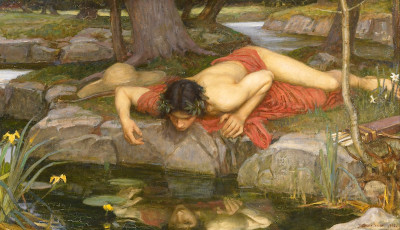 Un dettaglio di 'Eco e Narciso' di John William Watherhouse